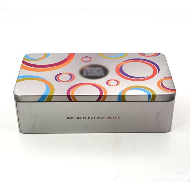 Rectangular tinplate box