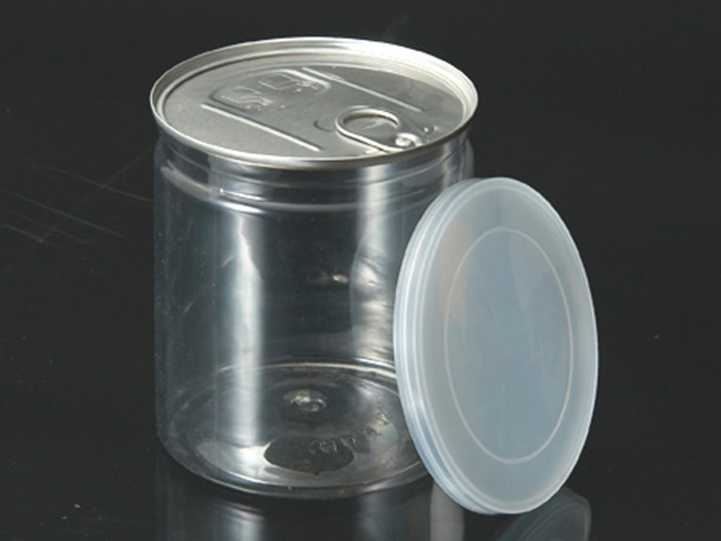 Transparent Food Plastic Jar