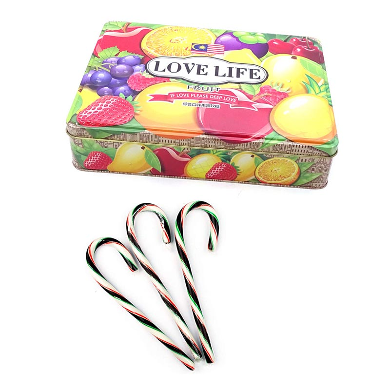 Wholesale candy canes tin box packaging