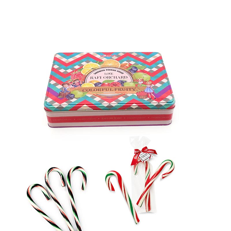 Wholesale candy canes tin box