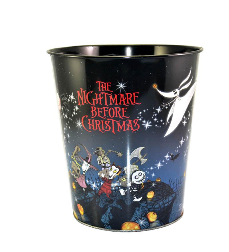 Halloween round tin bucket