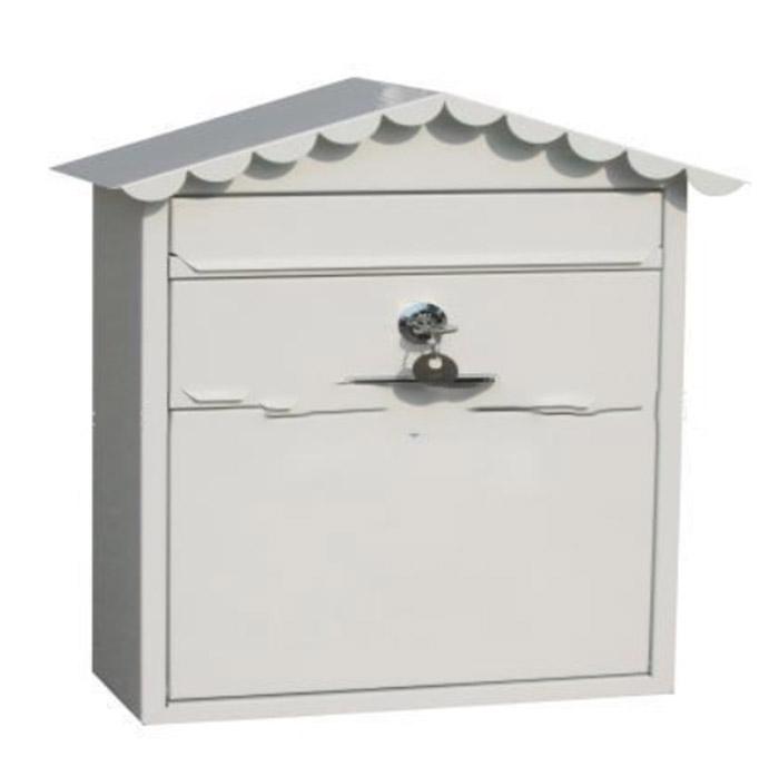 House-shaped metal post box