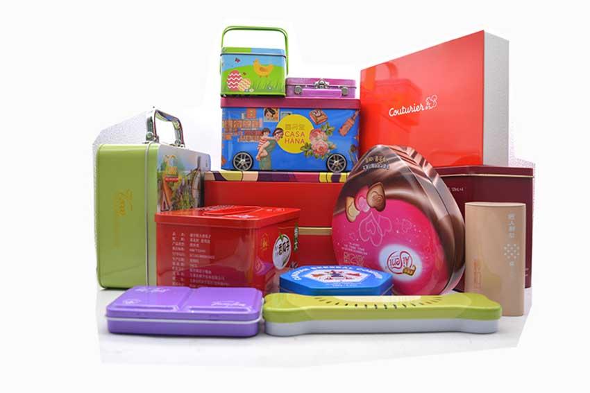 Holiday gift tin box