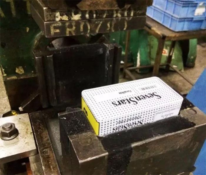Tin can crimping process