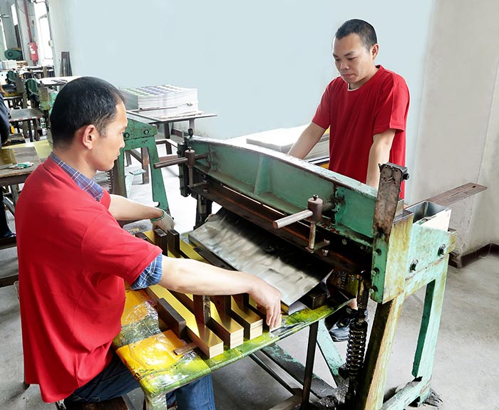 Tin can cutting process