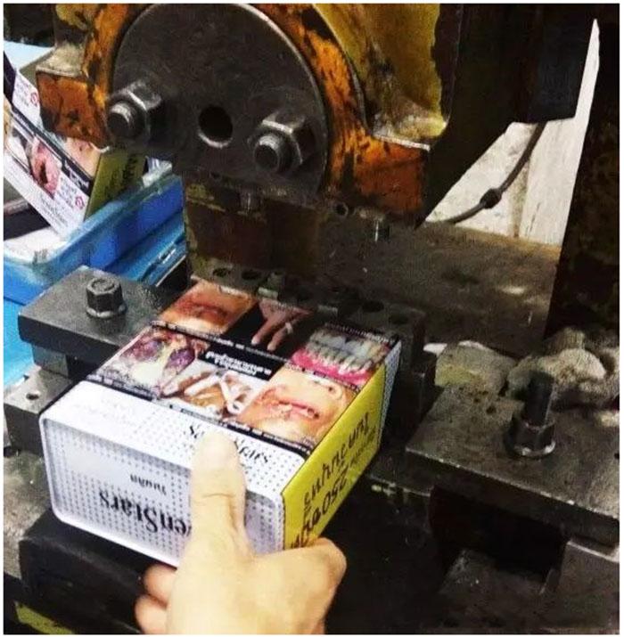 Tin can punching process