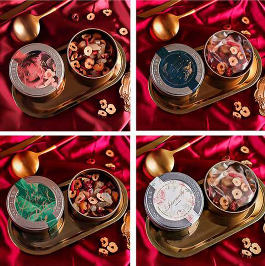 Food tin box packaging series