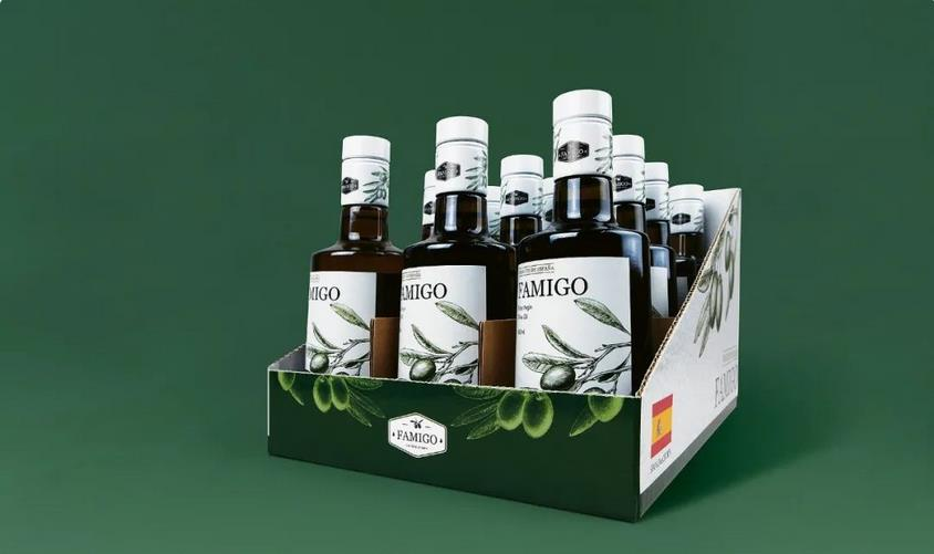 Creative olive oil packaging box