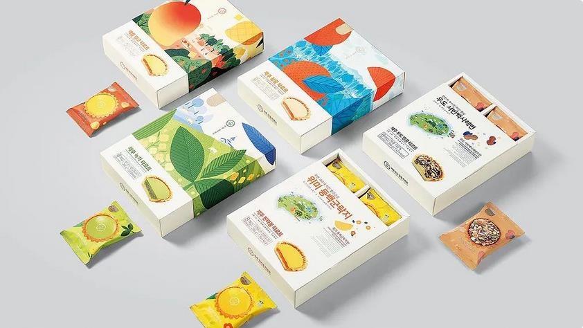 Fruit candy packaging box