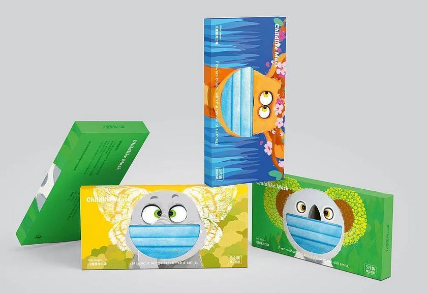 Creative mask packaging box