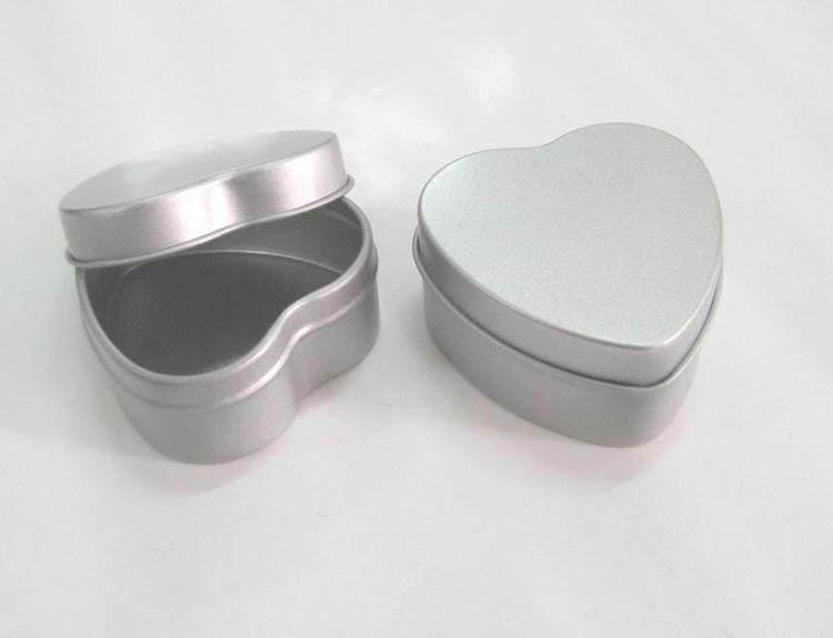 Silver printed tin can