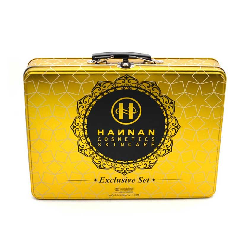 Custom tin box with handle