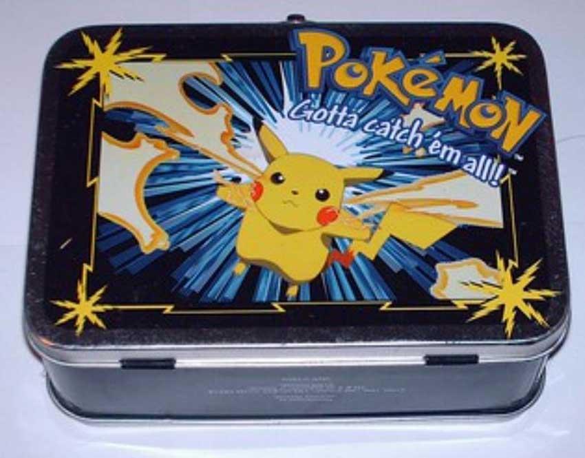 Hot selling pokemon bento tin box