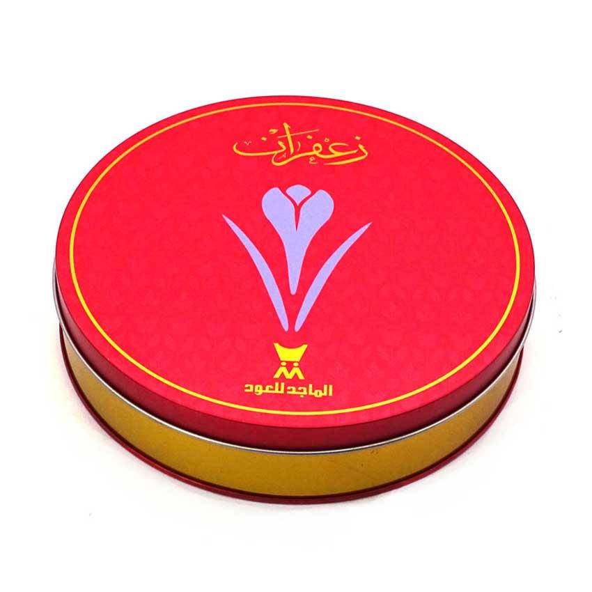 Printed saffron tin box