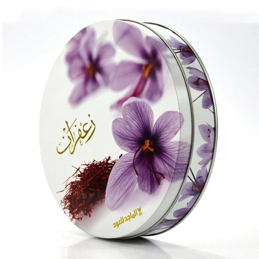Promotional gift saffron tin box