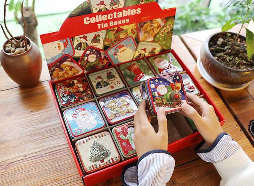 Christmas promotional gift tin box