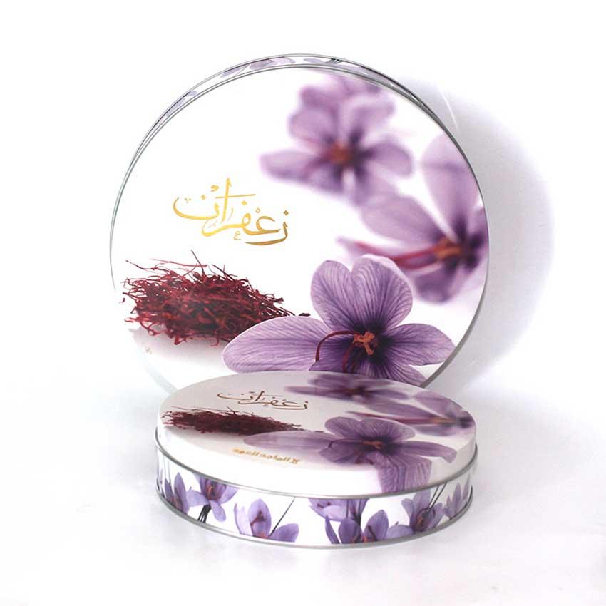 Saffron tin box