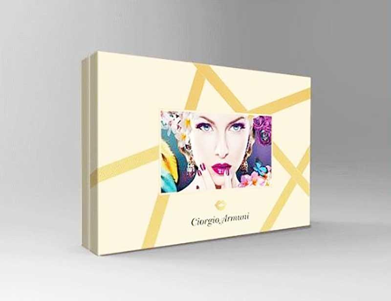 Printed cosmetic gift box