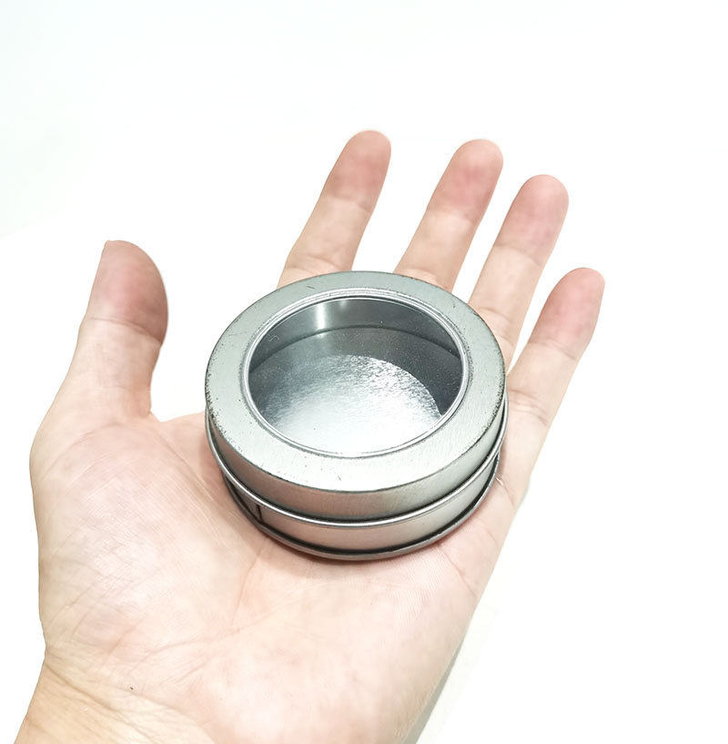 Custom small round tin can size