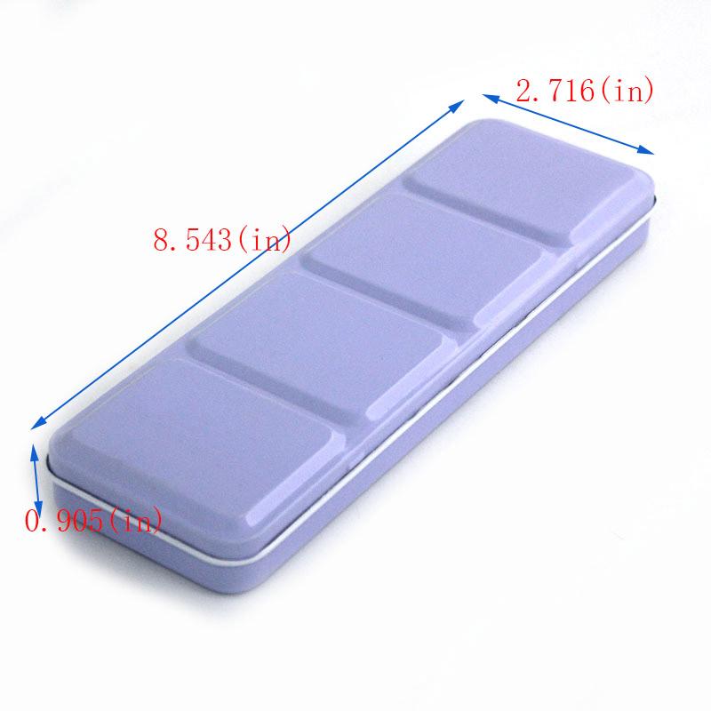 Portable 36-color palette tin box size