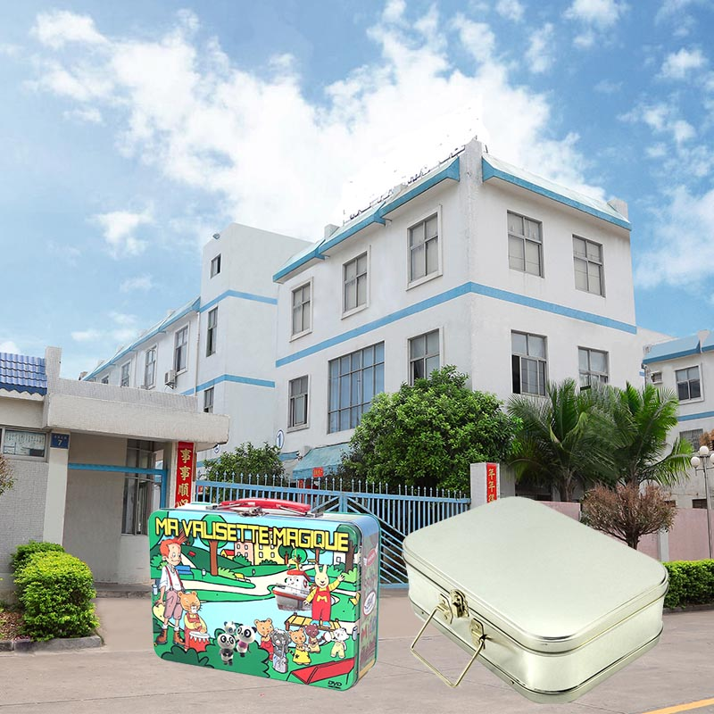 Blank lunch tin box with handle factory