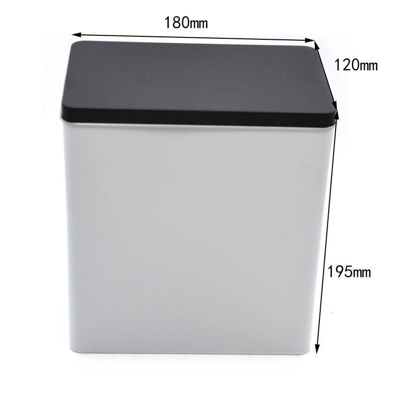 Custom rectangular empty storage tin can size