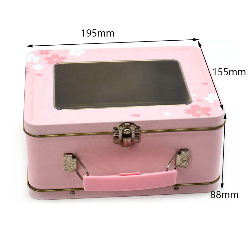 Custom size of metal box with handle for children storage