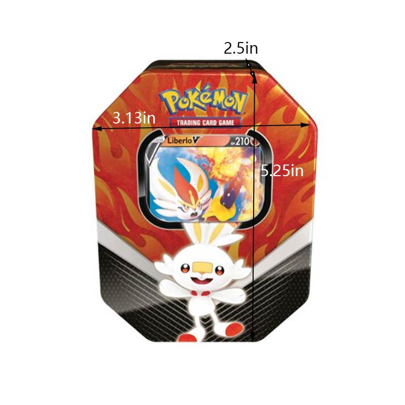 Customized Pokemon Tin Box Size