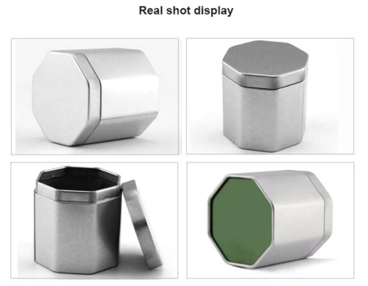 Customized hexagonal metal tin box series