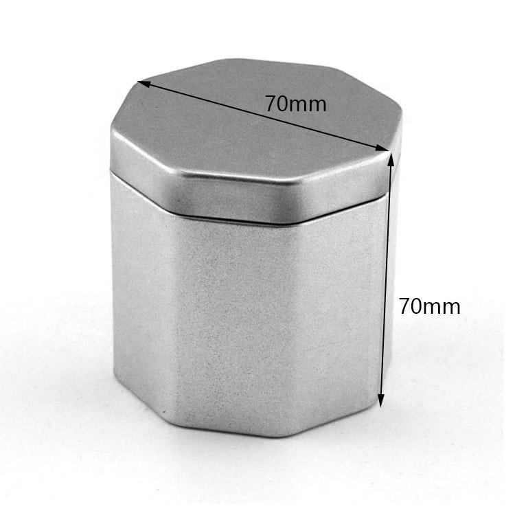 Customized hexagonal metal tin box size
