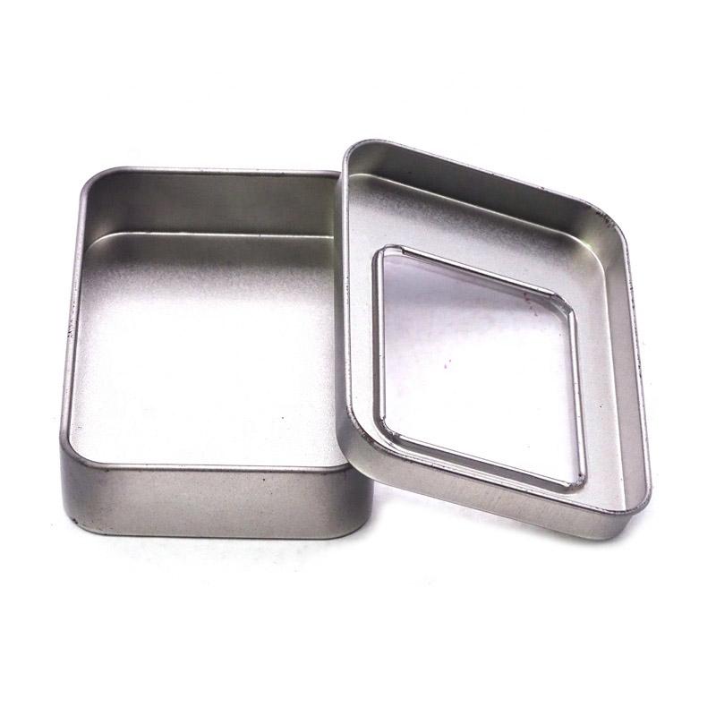 Rectangular metal tin box