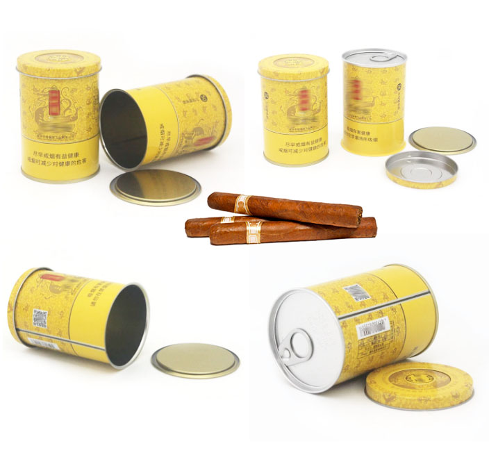 Round tobacco tin can series