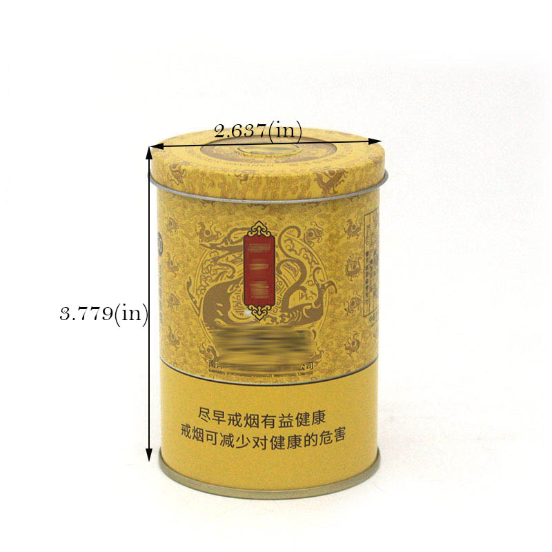 Round tobacco tin can size