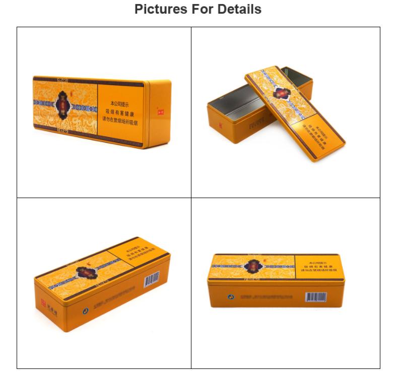 Four pictures tobacco tin box
