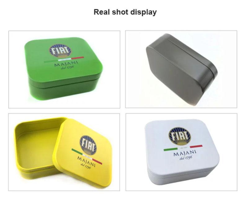 Square metal tobacco box series