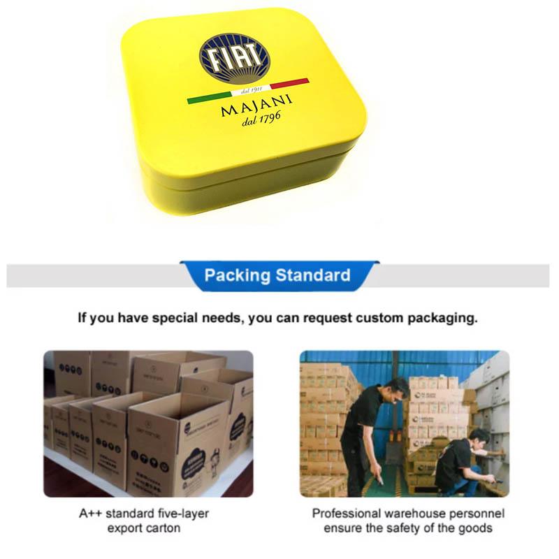 Square metal tobacco box supplier