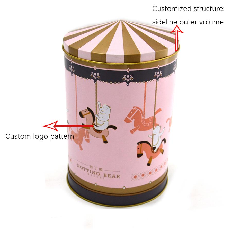 Customized melody Trojan horse music tin box