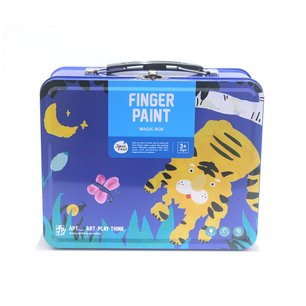 Blue children's lunch tin box