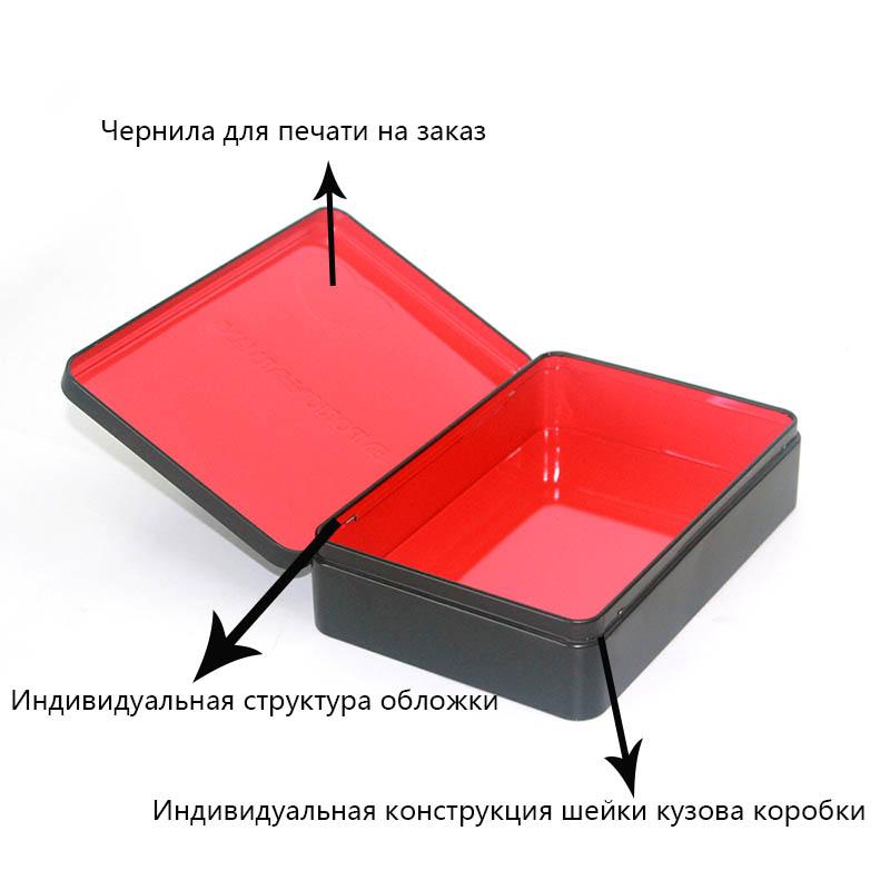 Параметры прямоугольной косметической жестяной коробки