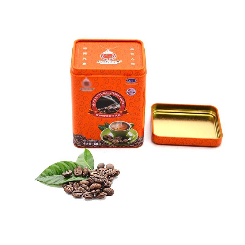 Оранжевая жестяная банка для кофе на заказ