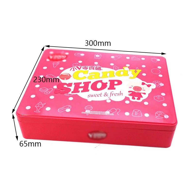Размер коробки олова конфет подарка детей изготовленный на заказ