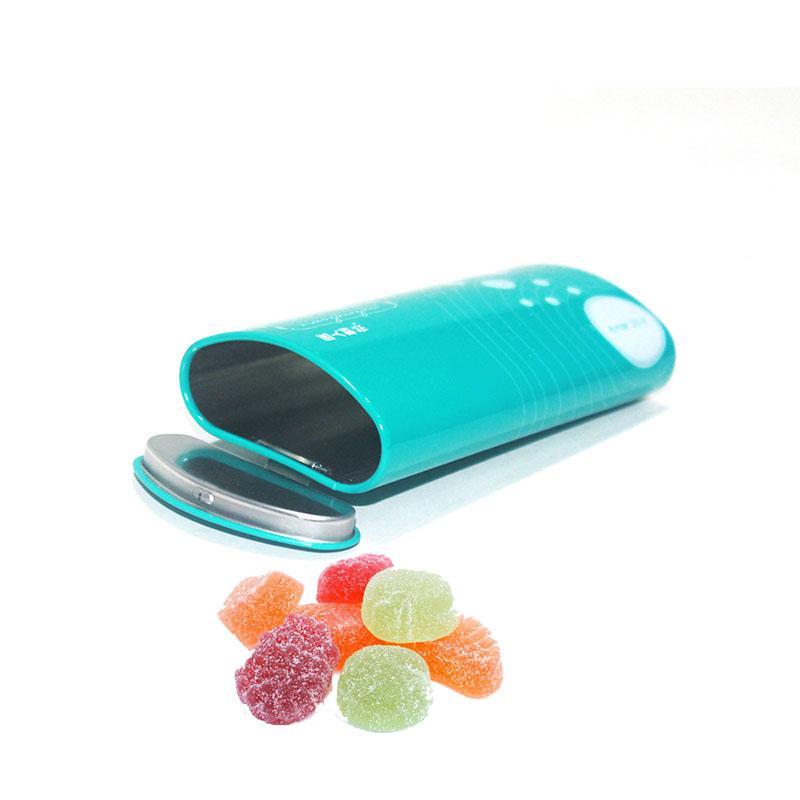 Синяя коробка для конфет с откидной крышкой