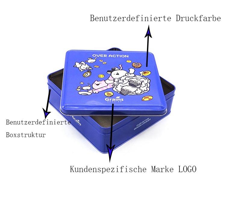 Benutzerdefinierte Keksgeschenkdose
