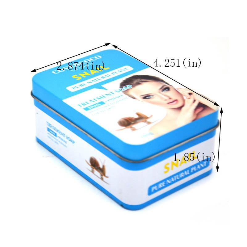 Tamaño de caja de lata de jabón rectangular personalizado