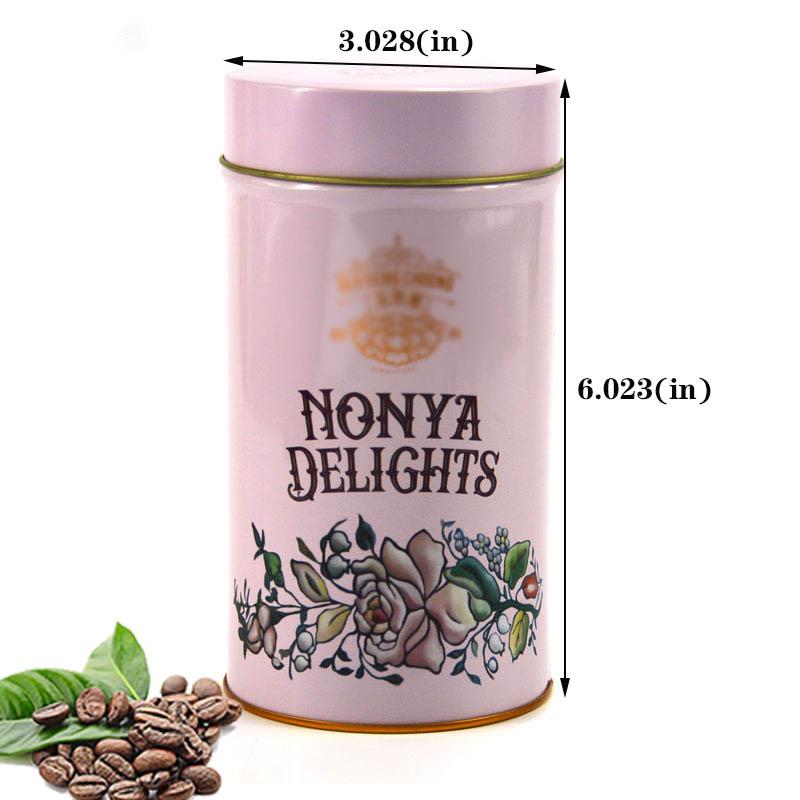 Tamaño de lata de café redonda personalizada