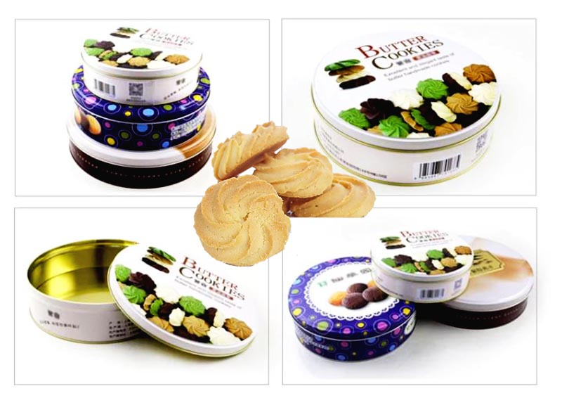 Boîte à biscuits au beurre personnalisée