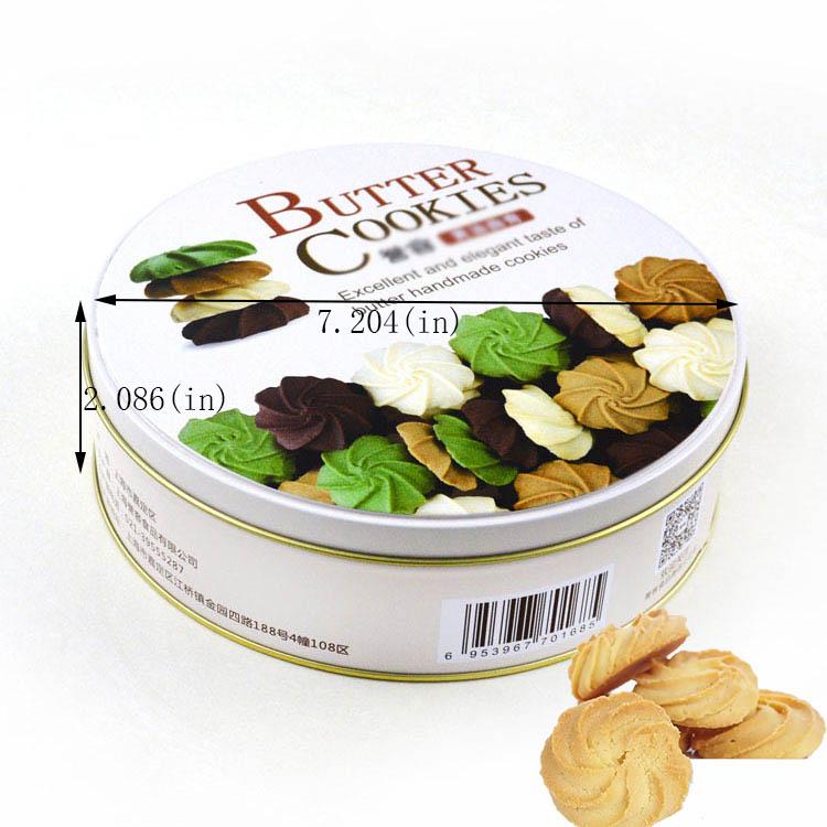 Taille de la boîte à biscuits de bienvenue ronde personnalisée