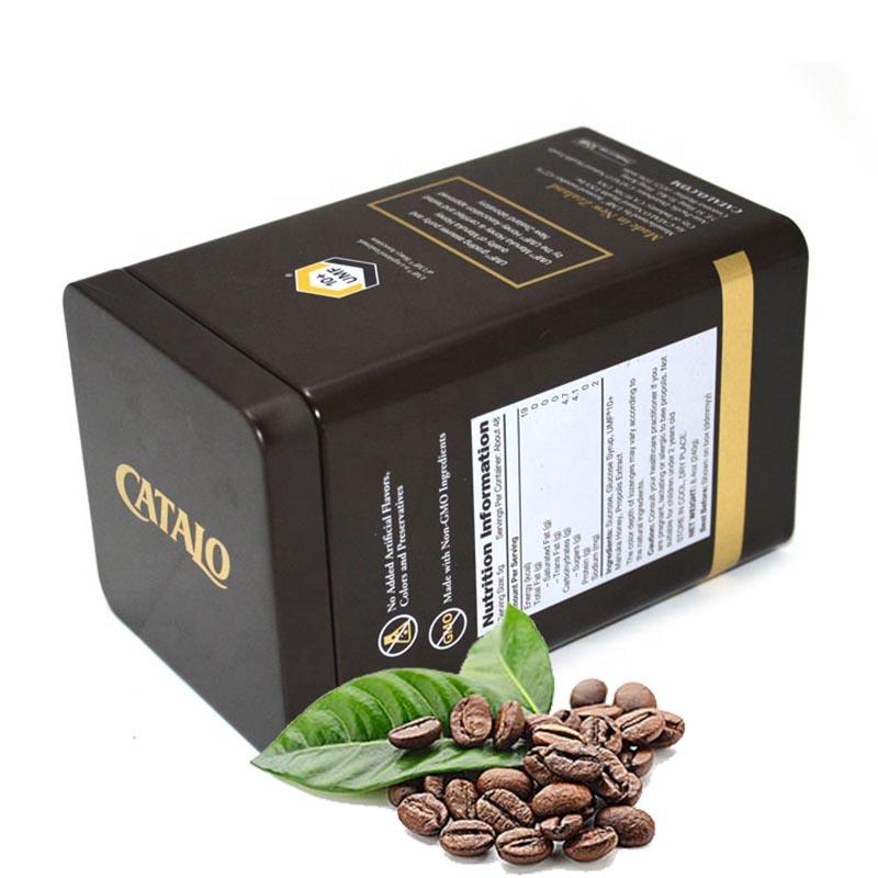 boîte à café carrée
