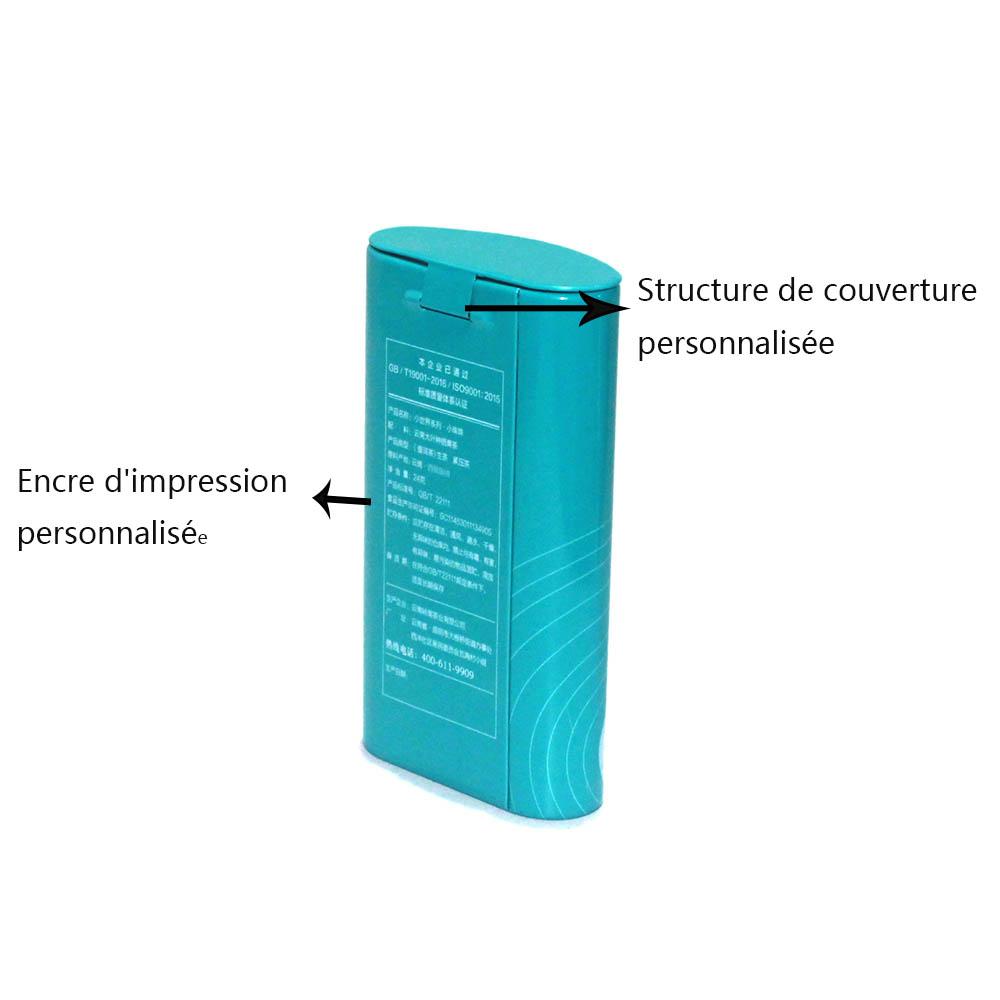 Boîte à bonbons personnalisée avec couvercle à charnière