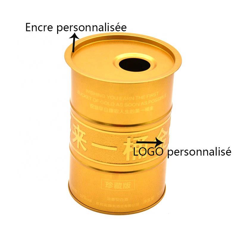 Boîte à vin ronde en métal personnalisée